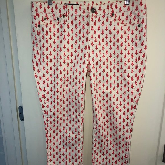 J.Crew cropped Matchstick print jeans sz 32 NWOT